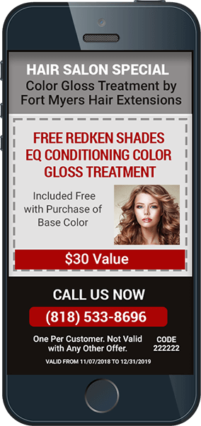 iPhone with Salon Coupon Created with EzSMS Blaster