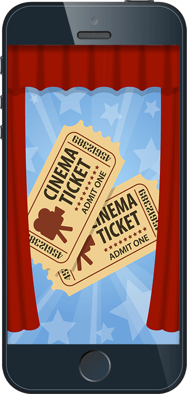 iPhone with tickets
